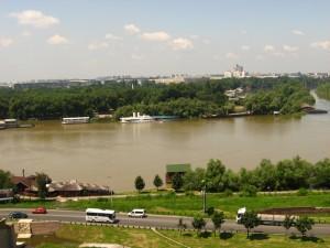Белград. Вид на Дунай. Июль 2010 г.