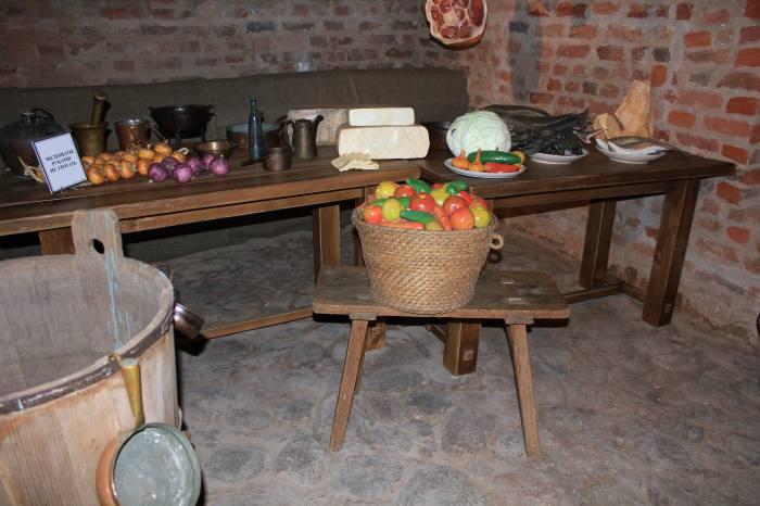 Кухонное помещение Мирского замка