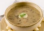 Суп грыбны з ячнымі крупамі