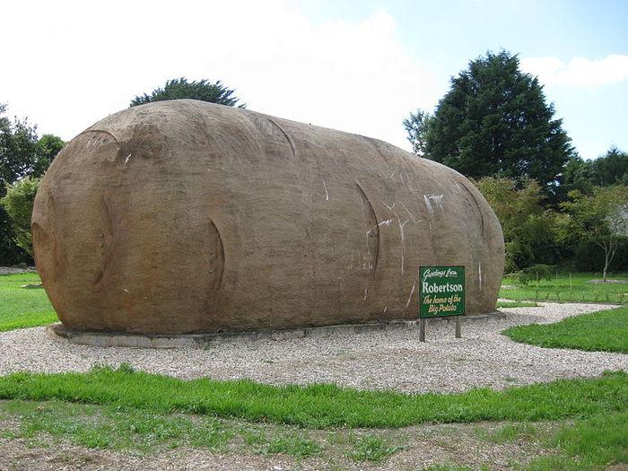 Памятник картошке «Big Potato» в Австралии (г. Робертсон, Новый Южный Уэльс)