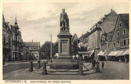 Памятник Фрэнсису Дрейку в Оффенбурге