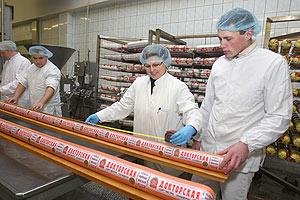 Длинная колбаса в Гродно