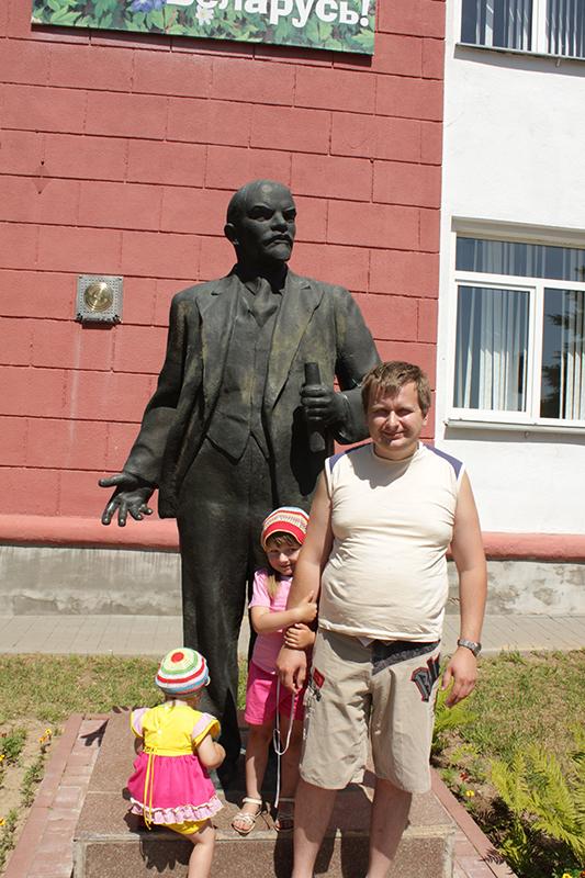 Я и Ленин в червене